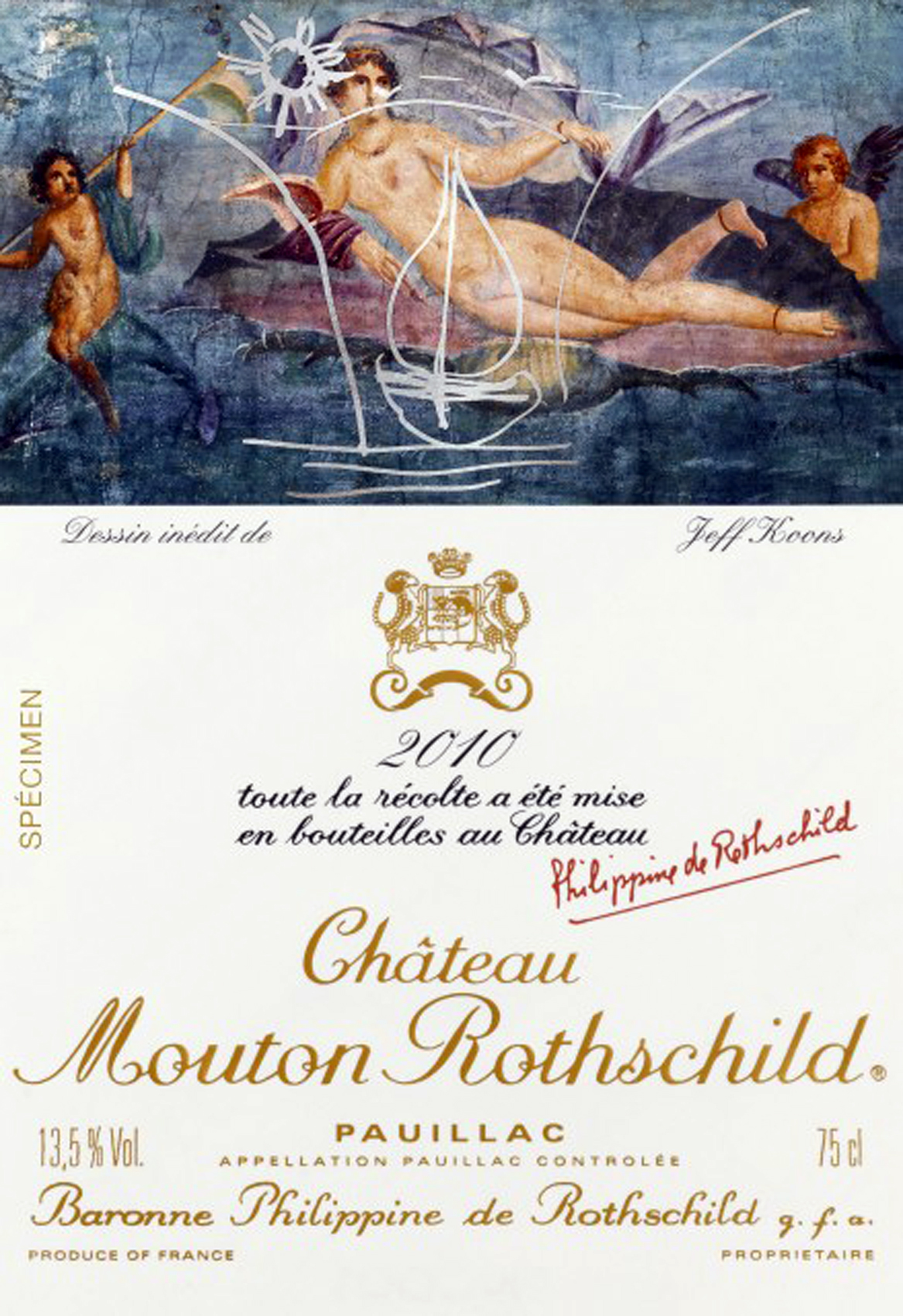 2010 Mouton Rothschild by Jeff Koons