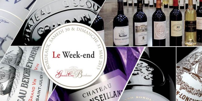 The Union des Grands Crus de Bordeaux Weekend: 30 May 2015
